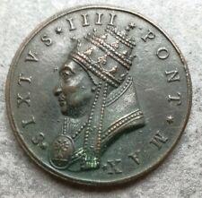 Medaglia Vaticano Sisto IIII 1471-1484 Colonna Di Genazzano 43mm 43,06gr