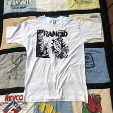 VTG Rancid Let's Go T-Shirt XL Rare White Tour Shirt 90s Single Stitch Band Punk