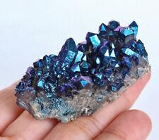 151Ct Mystic Crystal Cluster Purple Green Druzy SpecimenCoated YEGZ534