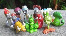 Plants vs Zombies 2 Egypt Private Wild West PVC 10pcs Toy Action Figures Set NEW