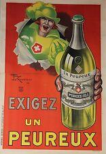 """""""EXIGEZ UN PEUREUX"""" Affiche originale entoilée Litho Henry LEMONNIER 1925"""