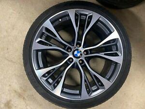 "1 GENUINE OEM BMW X5 X6 F15 F16 21"" 599 M PERFORMANCE ALLOY WHEEL RIM FRONT 599M"
