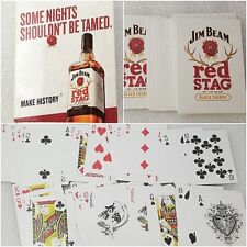 Jim Beam Red Stag Whiskey Deck of Playing Cards Sealed Pack FREE SHIPPING