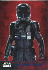 Star Wars Force Awakens S1 Blue Parallel Base Card #23 First Order TIE Pilot