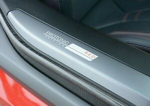 BMW OEM I12 I15 i8 Protonic Red Edition Door Sill Inserts Pair Brand New