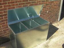 Horse Feed Bin Three 3 Compartment Animal Food Storage Galvanised Steel (3c)