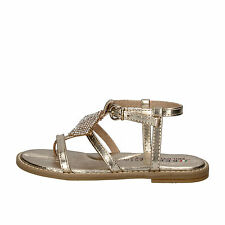 scarpe bambina PHIL GATIER BY REPO 29 EU sandali platino pelle strass AE139-D