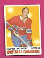 1970-71 OPC # 52 CANADIENS JACQUES LAPERRIERE VG+ CARD (INV# D2729)