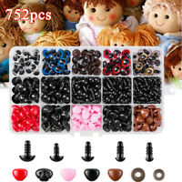 752x Safety Eyes & Safety Noses Washers for Teddy Bear Animal Doll Plastic Parts