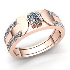 1ct Round Brilliant Cut Diamond Mens Bridal Solitaire Engagement Ring 10K Gold