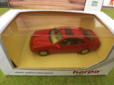 Herpa METALL No.070508 MERCEDES BENZ CLK FINISHED IN RED WITH TAN SEATS   !/43