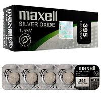 5 X Maxell 395 Argent Oxyde Piles 1.55V SR57 SR927SW 399 Montres 0% Mercure