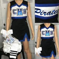 Cheerleading Uniform High School 6pc Set Adult Sm