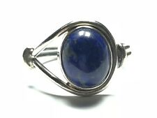- Take A Look! - Size 5.75 Vintage Ladies Sterling Silver Blue Lapis Ring