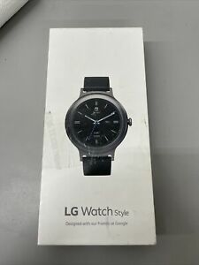 Used- LG Watch Style Smartwatch with Android Wear 2.0- Grey/black- FREE SHIPPING