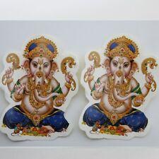 Aufkleber Sticker 2 x GANESH- Indien Goa Hippie God-Stickers 8 x 11 cm, 44