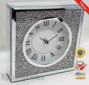 Jewel Crushed Crystal Effect Clock 20cm