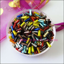 1200Pcs Mixed Tiny Tube Glass Spacer Beads Charms 4mm