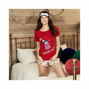 Avon Ladies Womens Christmas Xmas Shorts Pyjamas Set PJs Size 6 8 10 12 14 16