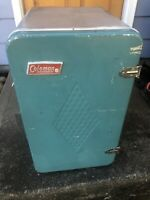 Vintage Turquoise Retro Camping Coleman Cooler Upright Diamond Cooler READ