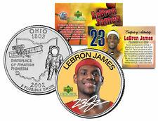 LEBRON JAMES Colorized Ohio Statehood Quarter U.S. Coin ** ROOKIE ** LICENSED **