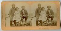 African American Children Vintage Stereoview Photo 1895