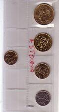 Estonia  set 5 monete   FDC UNC