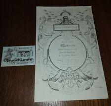 WILD TCHOUPITOULAS & NEVILLE BROTHERS Tipitina's 11x 17 Poster & Ticket 1977