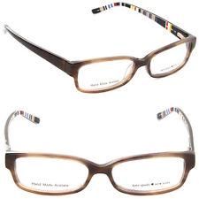 4682454625b NEW Kate Spade Lorelei X23 50mm Rectangle Eyeglasses Toffee Striped Demo  Lens