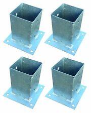 4x Post-Responsables pour Post Clôture 9x9cm Dévisser Galvanisé Douille Vissée