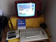 COMMODORE C64 +Manuale+Datassette+Alimentatore+Joystick+Giochi TESTATO FUNZIONA
