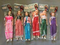 6x Marion 29cm Modepuppe mit schönem Outfit / Moden - Vintage Puppe Ovp NrfB
