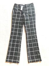 $52 NY&Co Women's Stretch Crosby St Pants Straight Leg Buffalo Check Sz 2 #H3