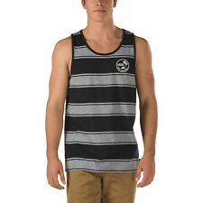 de7e49e95ad78d VANS Men s off The Wall Bidwell Stripe Tank Top L Black gray