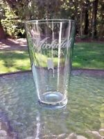 """Michelob Ultra Etched Beer Bar Pint 5.75"""" Drink Glass 16 Oz Barware"""