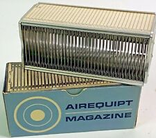 """Vintage AIREQUIPT MAGAZINE Tray for 2 x 2"""" 35mm Slides - Metal"""