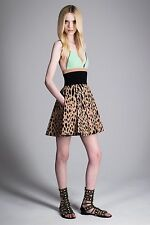 New Fausto Puglisi Leopard Print Flared Dress - RRP £1455