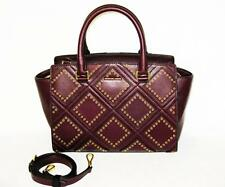 MICHAEL KORS Rich Med SELMA DIAMOND GROMMET PLUM SATCHEL SHOULDER BAG NWT $498