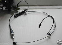 Double ear Headset Microphone for Sennheiser wireless system Headworn Black Mic