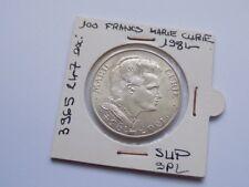 Très  rare  100 FRANCS MARIE CURIE  1984  SPL/SUP