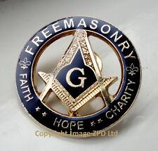 ZP307 Freemason Masonic Badge G Geometry Freemasonry Faith Hope Charity