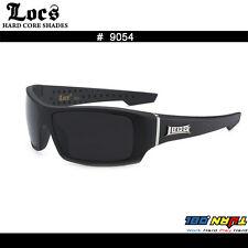 f8a39837e87 LOCS 9054 Raw Footage Men s OG Shades Matte Black Frame Dark Lens Gangster  UV400