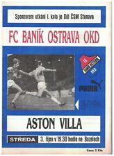 BANIK OSTRAVA v ASTON VILLA 1990 UEFA CUP