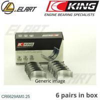 King Big End Con Rod Bearings CR6629AM 0.25 For MITSUBISHI 3.0 24V V6 6G72-6G73