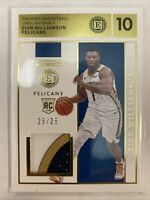 2019-20 Panini Encased Gold Tri-Color Patch Rookie RC Zion Williamson 25/25 !!!