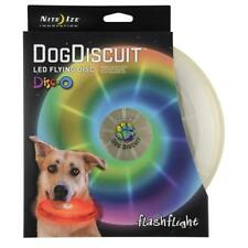 Dog Discuit LED Flying Disc Plastic Flashlight Bite Durable Replaceable Battery