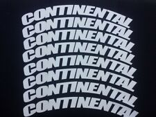 """Permanent Rubber Tire Letters Stickers CONTINENTAL 1."""" Set of8 17"""" - 21"""" Tire..."""