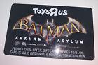 NO VALUE Toys R Us Batman Arkham Asylum Gift Card City Knight Joker Harley Quinn For Sale