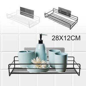 New Stainless Steel Bathroom Shower Shelf Storage Suction Basket Caddy Tidy UK