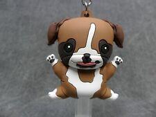 Monogram Puppies NEW * Boxer * Blind Bag Dog Keychain Key Chain Ring